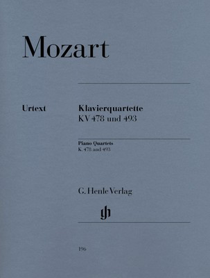 Piano Quartets K 478 K 493 - Wolfgang Amadeus Mozart - Piano|Viola|Cello|Violin G. Henle Verlag Piano Quartet Parts