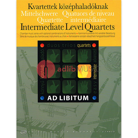 AD LIBITUM INTERMEDIATE LEVEL QUARTETS - ENSEMBLE - EMB