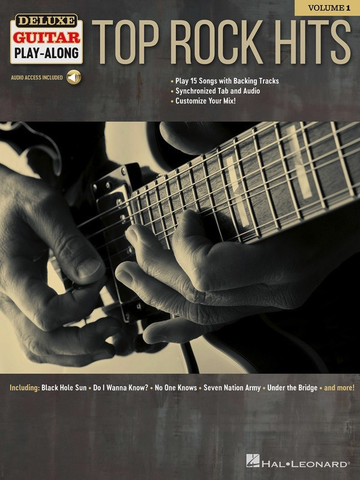 Top Rock Hits - Deluxe Guitar Play-Along Volume 1 - Guitar - Online Audio - Hal Leonard