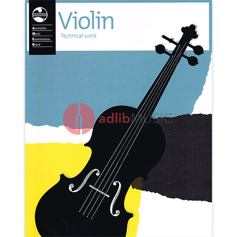 Violin Technical Work Book - 2011 edition - Violin AMEB Violin Solo Spiral Bound