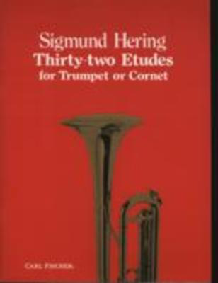 Thirty-Two Etudes for Trumpet or Cornet - Sigmund Hering - Bb Cornet|Trumpet Carl Fischer