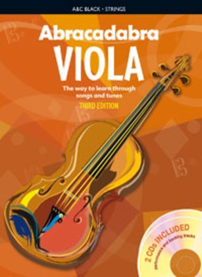 Abracadabra Viola 3rd Edition Book + 2CDs - The way to learn through songs and tunes - Viola Peter Davey A & C Black /CD - Adlib Music