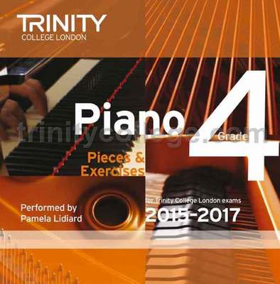 Piano Pieces & Exercises Gr 4 2015-2017 Cd - Piano Trinity College London