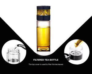 Filtered Glass Bottle - Tea Cottage