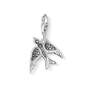 Thomas Sabo Swallow Charm Pendant Silver with Marcasite  0998-020-11