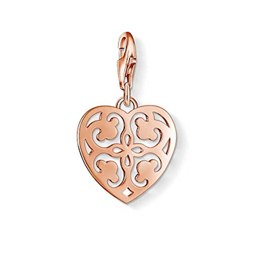 Thomas Sabo Silver Rose Gold Plated Heart Charm 1026-415-12