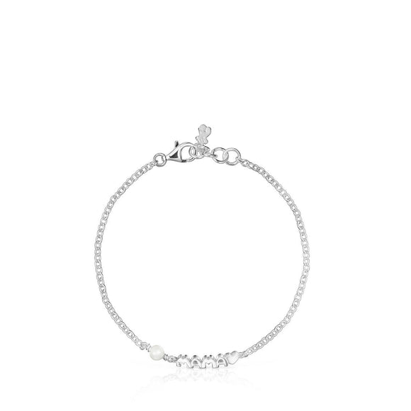 Tous Mama Bracelet in Silver and Mother-of Pearl 914151520