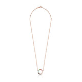 Tous Straight disc Necklace in Rose Gold Vermeil with Gemstones 912722510