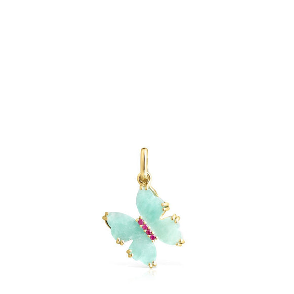 Tous Gold with Amazonite and Ruby Vita butterfly Pendant 918534040