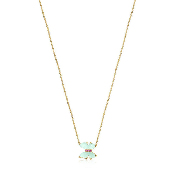Tous Gold with Amazonite and Ruby Vita Necklace 918532040