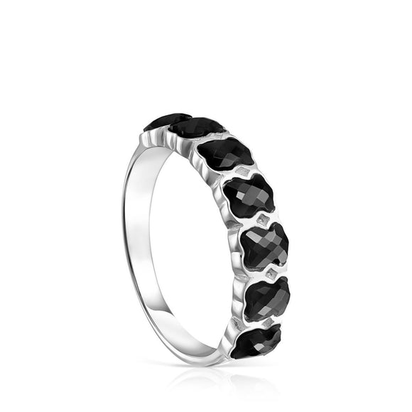 Tous Mini Onix Ring in Silver with Onyx 918455501