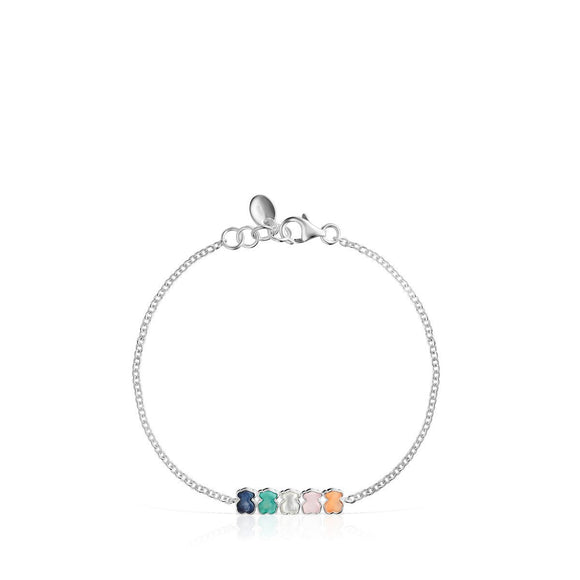 Tous Mini Color Bracelet in Silver with Gemstones 915431610