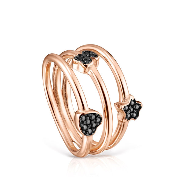 Tous Rose Gold Vermeil Motif Ring with Spinels 914935511