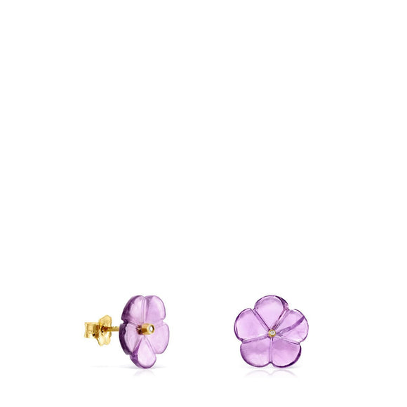 Tous Vita earrings in Gold with Amethyst and Diamond 918533010