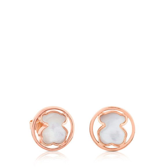 Tous Rose Vermeil Silver Camille Earrings 712163570