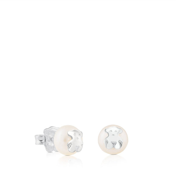 Tous Silver TOUS Bear Earrings with Pearl 211140420