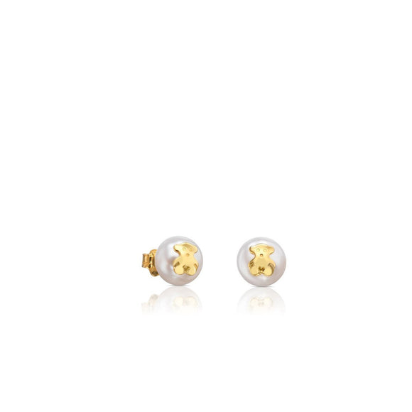 Tous Gold TOUS Bear Earrings with Pearl 511000795