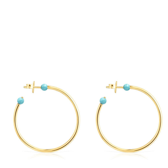 Tous Large Batala Earrings in Gold Vermeil with Howlite 918543620