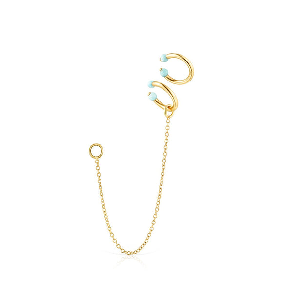 Tous Batala Earcuff Pack in Gold Vermeil with Howlite 918543670
