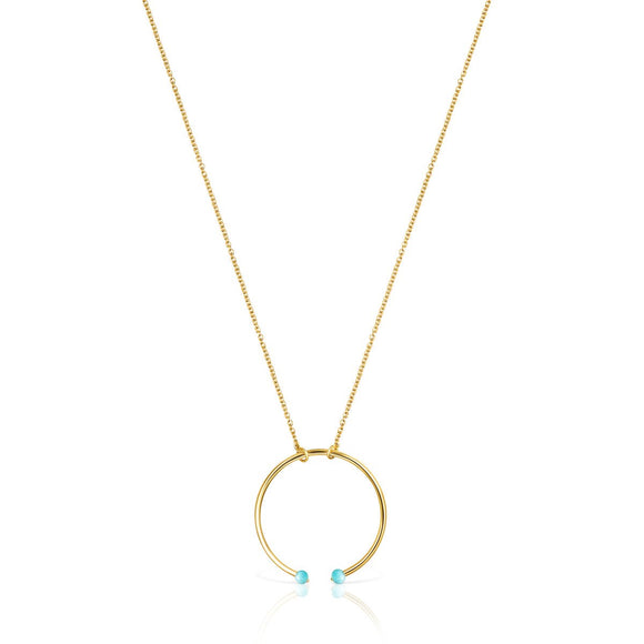 Tous Batala Necklace in Gold Vermeil with Howlite 918542570