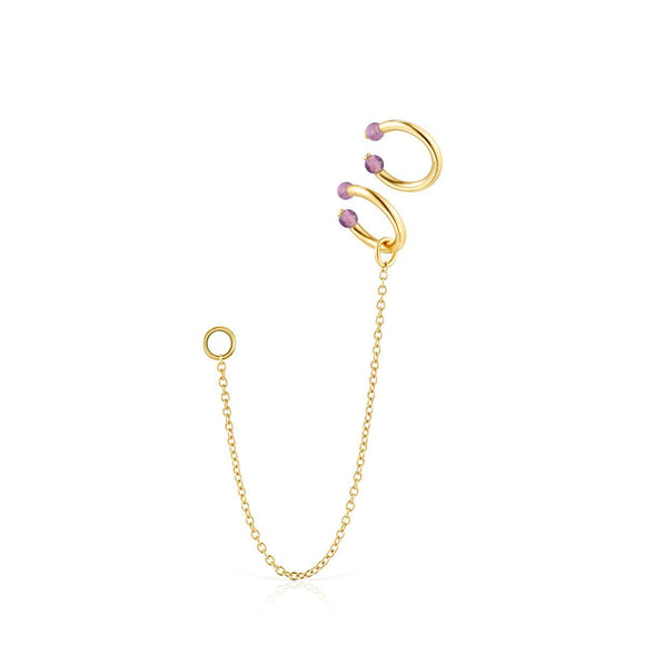 Tous Batala Earcuff Pack in Gold Vermeil with Amethyst 918543650