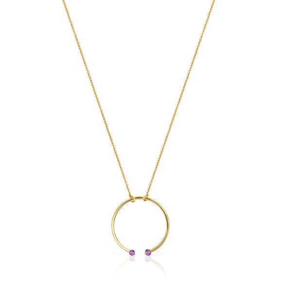 Tous Batala Necklace in Gold Vermeil with Amethyst 918542540