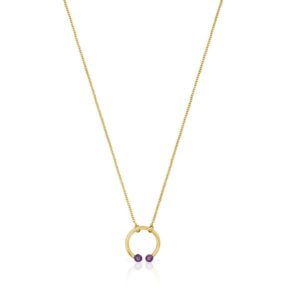 Tous Batala Necklace in Gold Vermeil with Amethyst 918542590