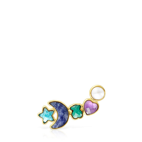 Tous Glory Earring in Gold Vermeil with Gemstones 918593570