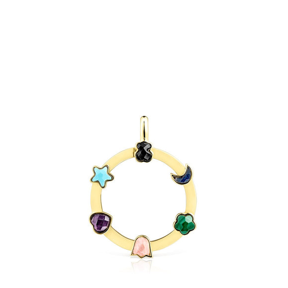 Tous Gold Vermeil Glory Pendant with Gemstones 918594500