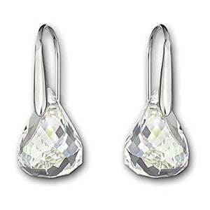 Swarovski Lunar Pierced Earrings, White, Rhodium Plating 1046084