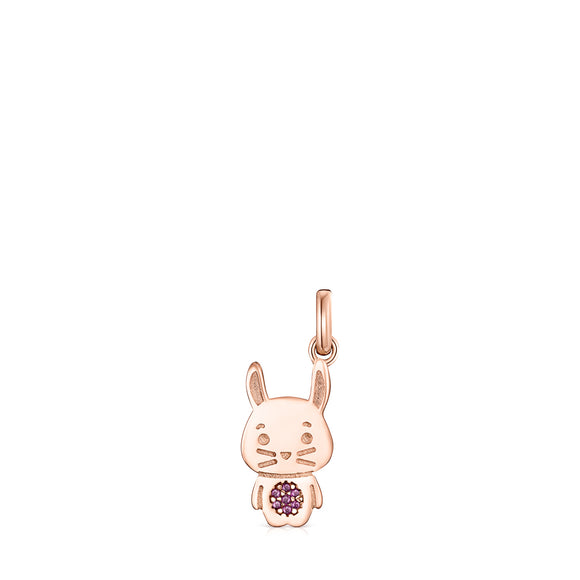Tous Chinese Horoscope Rabbit Pendant in Rose Gold Vermeil with Ruby 918434550