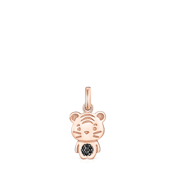 Tous Chinese Horoscope Tiger Pendant in Rose Gold Vermeil with Spinel 918434620