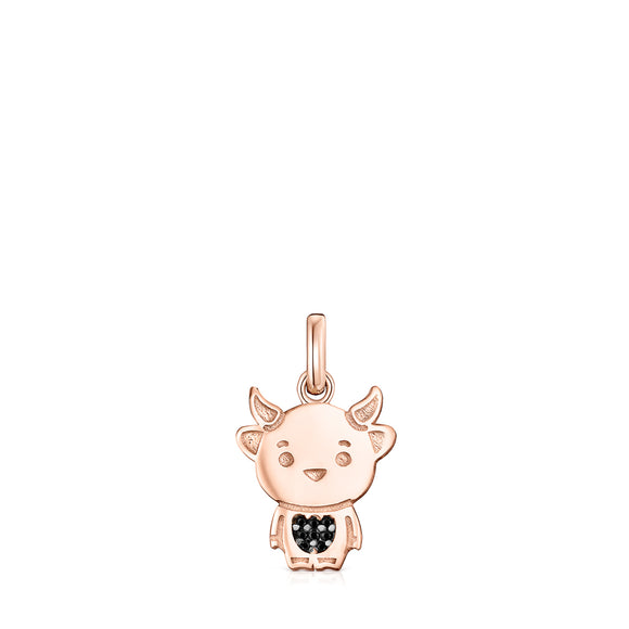 Tous Chinese Horoscope Ox Pendant in Rose Gold Vermeil with Spinel 918434510