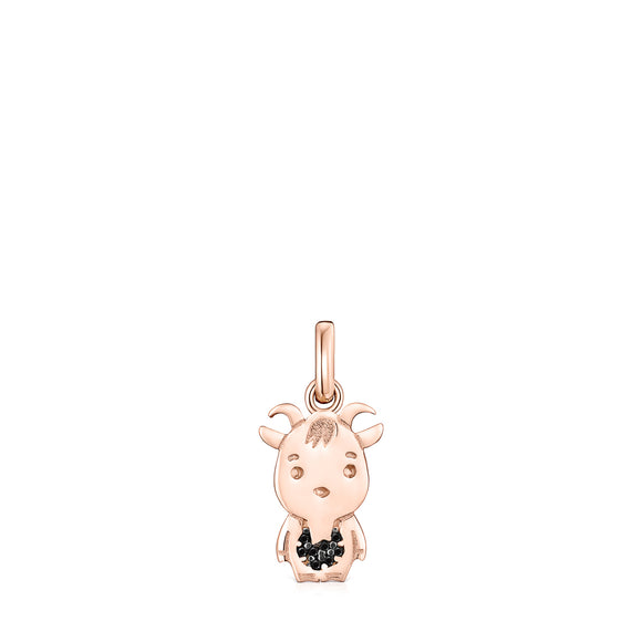 Tous Chinese Horoscope Goat Pendant in Rose Gold Vermeil with Spinel 918434530