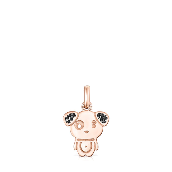 Tous Chinese Horoscope Dog Pendant in Rose Gold Vermeil with Spinel 918434590