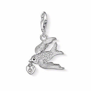 Thomas Sabo Swallow Charm Silver with White Zirconia 1065-041-14
