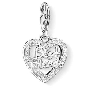 Thomas Sabo Best Friends Charm White 925 Sterling Silver/ Zirconia 1307-051-14