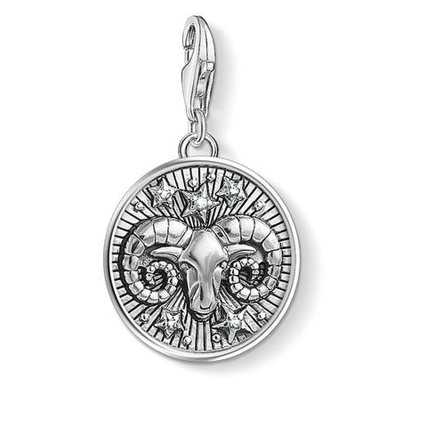 "Thomas Sabo  CHARM PENDANT ""ZODIAC SIGN ARIES"" 1640-643-21"