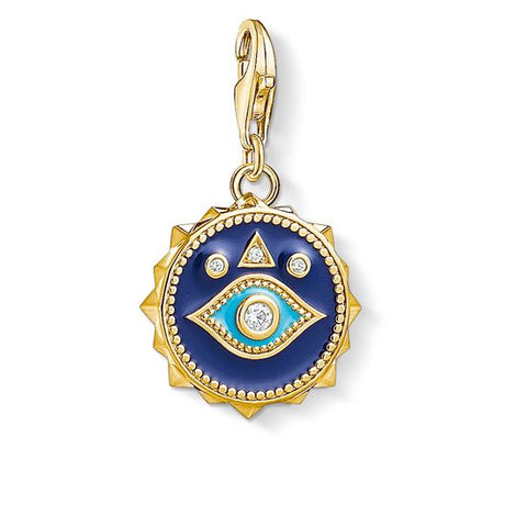 "THOMAS SABO CHARM PENDANT ""BLUE NAZAR EYE "" 1663-565-32"