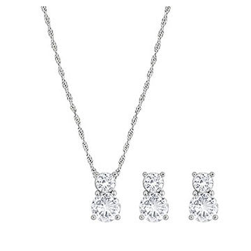 Swarovski Brilliance Set White Rhodium Plating 1807339