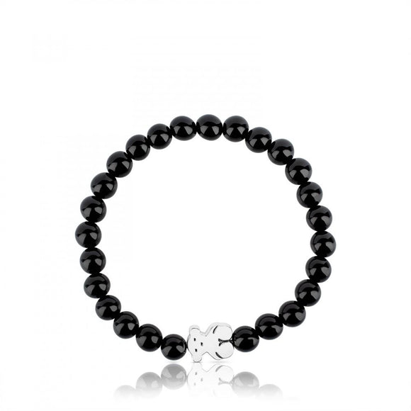 Tous Silver Sweet Dolls Bracelet with Onyx 315901590