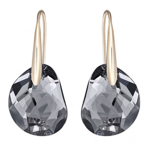 Swarovski Galet Pierced Earrings, Gray, Rose Gold Plating 5165033