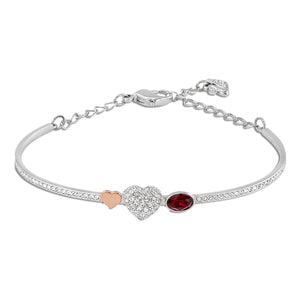 Swarovski Duo Heart Bangle, Mixed Plating 5169396
