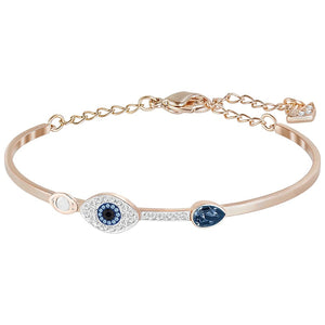Swarovski Duo Evil Eye Bangle, Blue, Mixed Plating 5171991