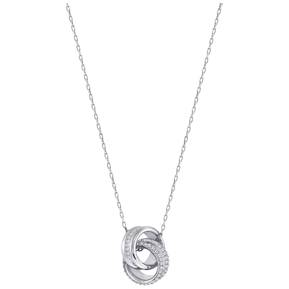 Swarovski Further Pendant, Small, White, Rhodium plating 5240524