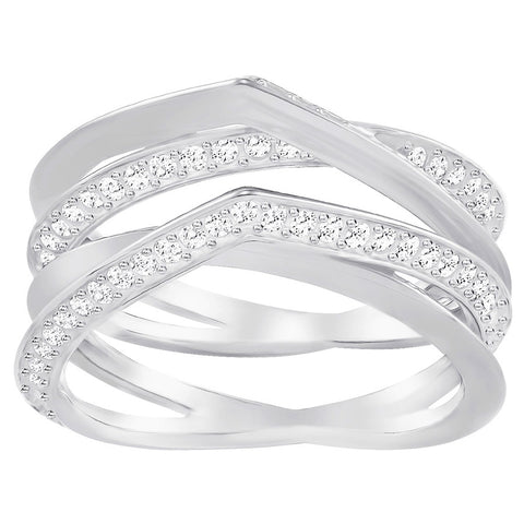 Swarovski Genius Ring White Rhodium Plating