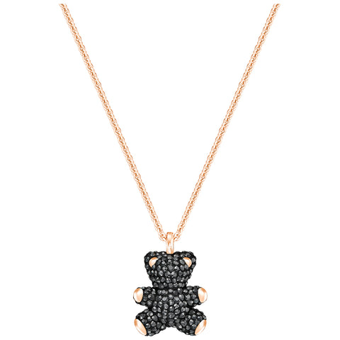 Swarovski Teddy 3D Pendant, Black, Gold Plating 5300448