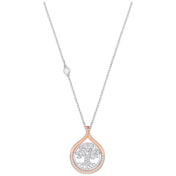 Swarovski Humanist Tree of Life Pendant, White, Mixed Plating 5353199