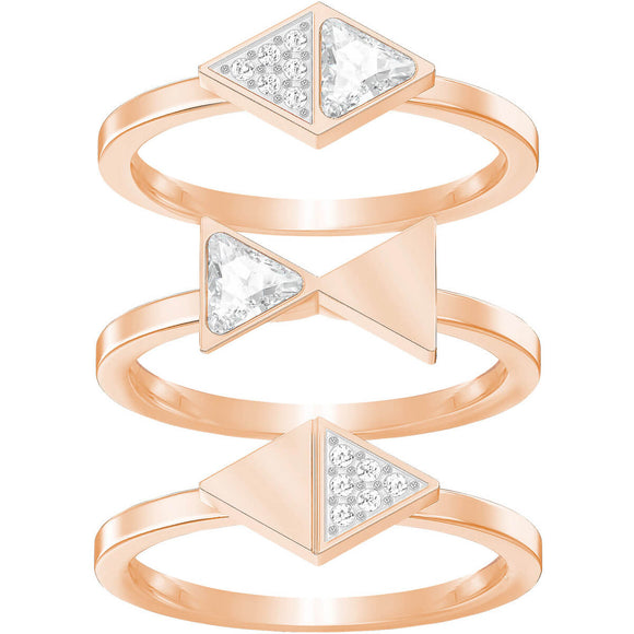 Swarovski Heroism Ring Set White Rose Gold Plating 5366568