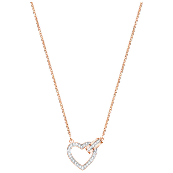 Swarovski Lovely Necklace, White, Rose gold plating 5368540